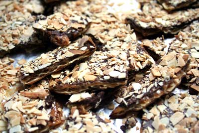 caramelized matzoh crunch with chocolate 4 to 6 sheets of matzoh 1 cup ...