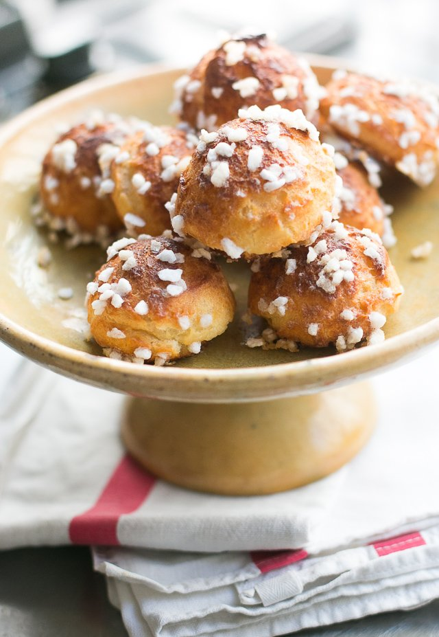 Chouquettes: Classic French Cream Puffs Topped with Crunchy Sugar - recipe!