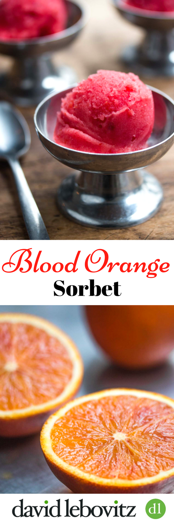 A delicious, refreshing two-ingredient sorbet that captures the taste of fresh oranges in each icy scoop.