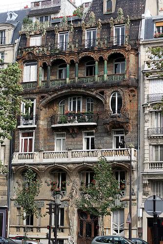 Art Nouveau Building Save. Paris Apartment ...