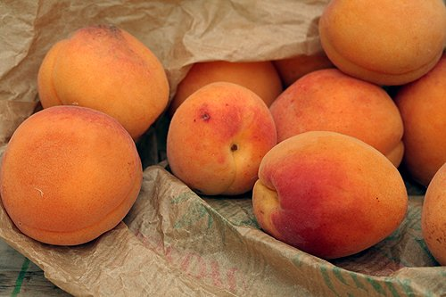 bag of apricots