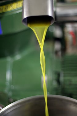 dripping olive oil