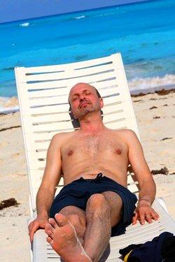 romain on beach