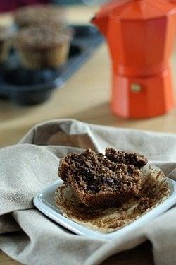bran muffin + moka