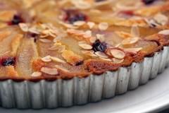 pear almond frangipan tart
