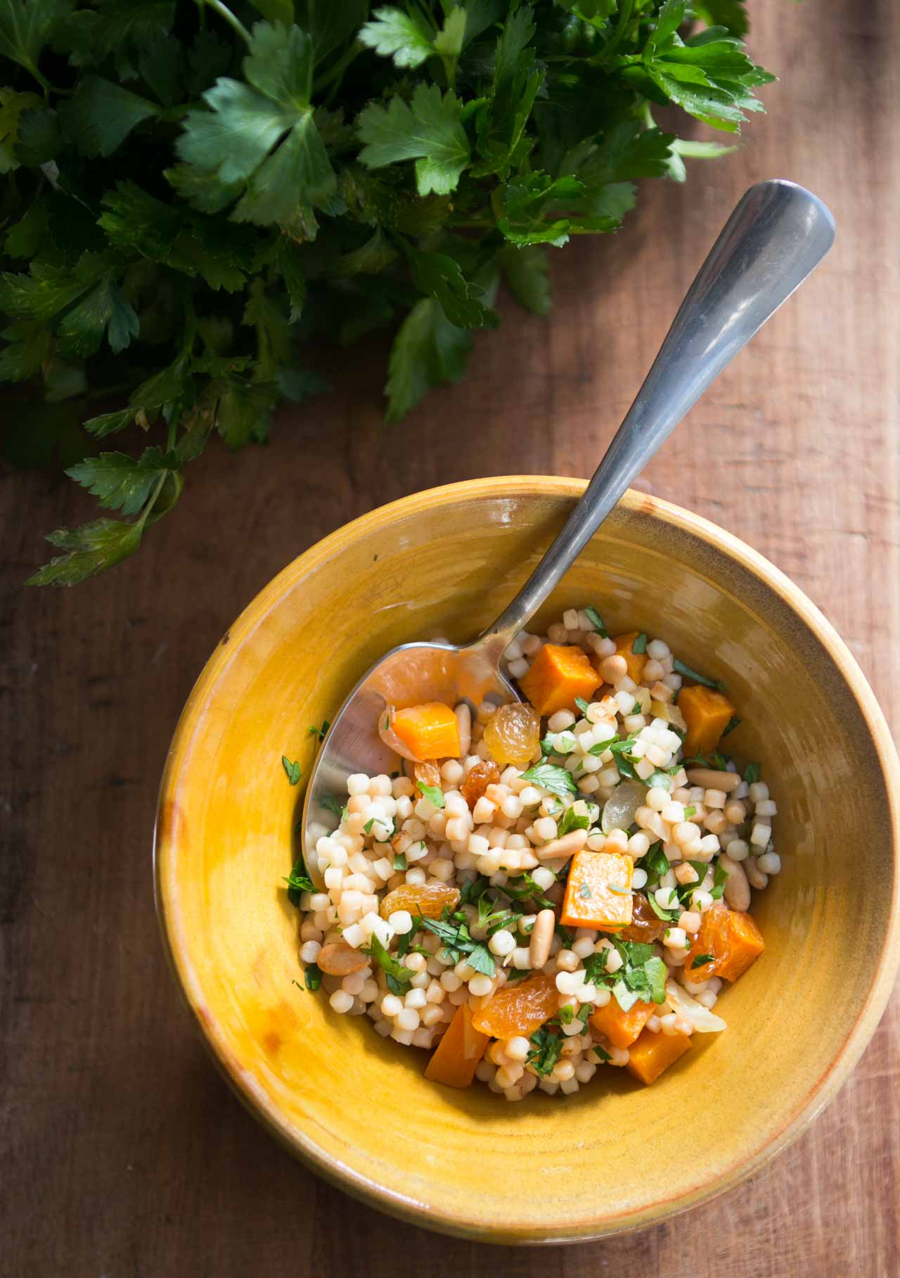 Israeli Couscous with Butternut Squash & Preserved Lemons