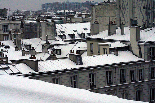 paris-first snowfall