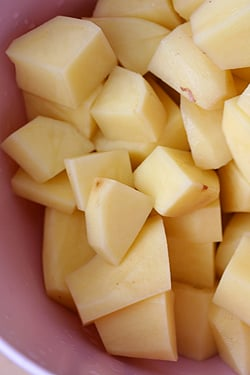cubed potatoes