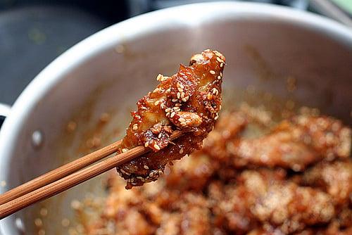crispy Korean chicken wings