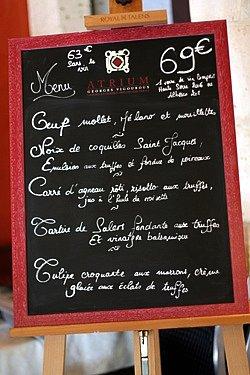 auxerre menu
