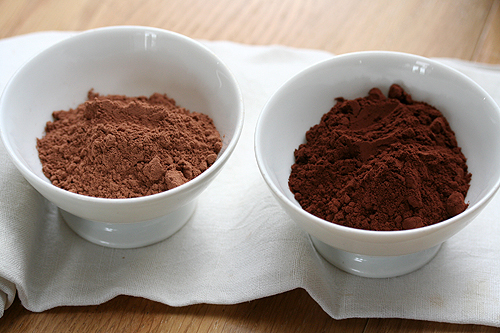 two cocoa powders