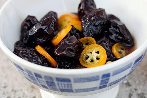 Poached Prunes and Kumquats