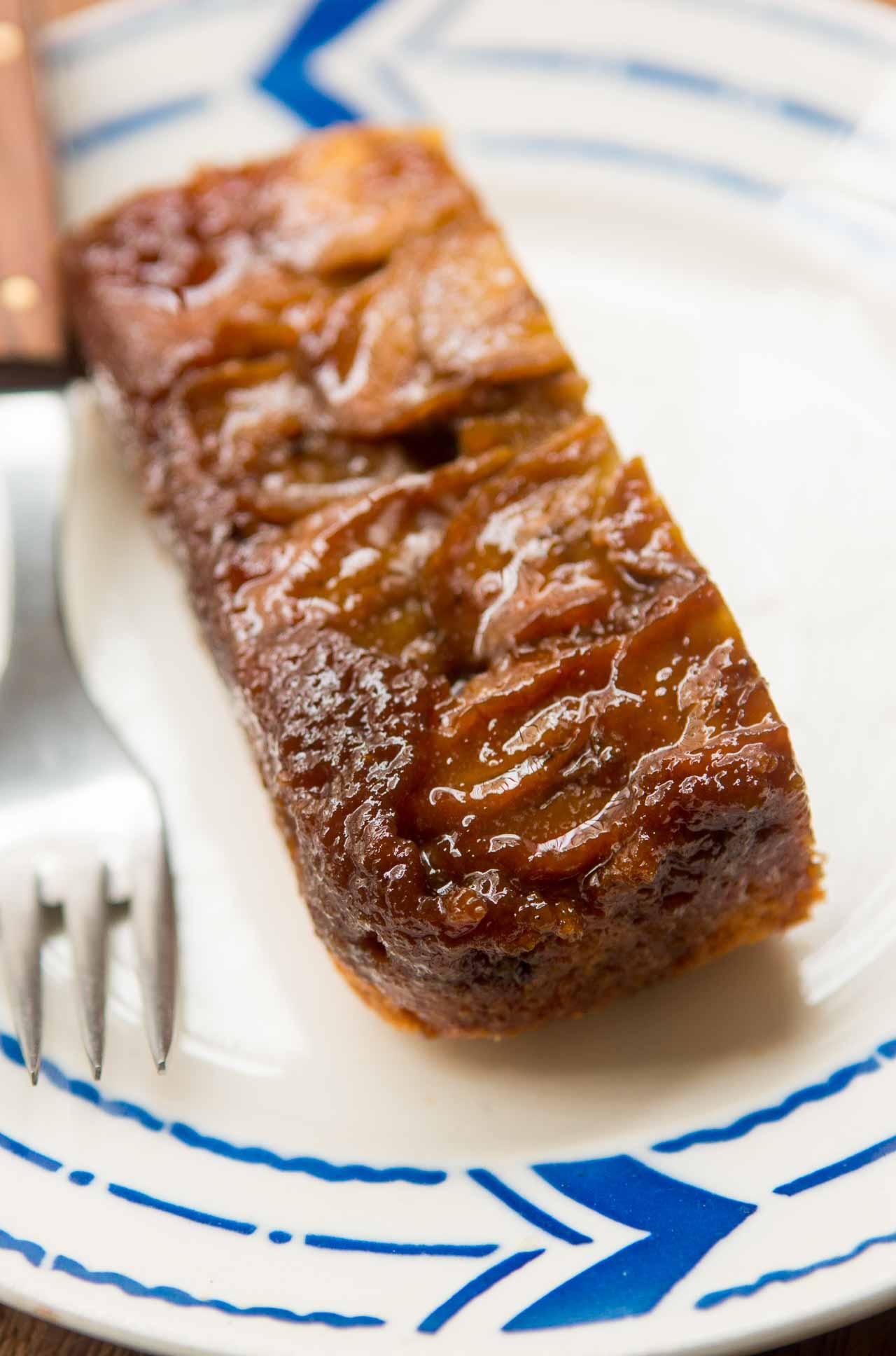 Banana and Chocolate Chip Upside Down Cake (Lowfat)