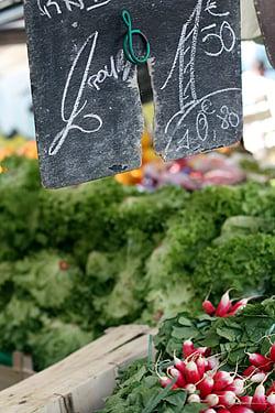 Radishes at market