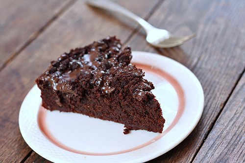 agave-sweetened chocolate cake