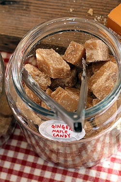 ginger maple candies
