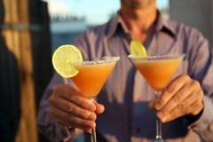 frozen melon margarita cocktail