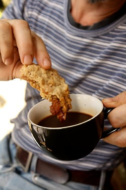 oatmeal cookie and coffee