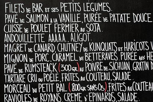 French Handwriting - David Lebovitz