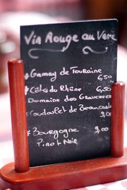 Astier wine list