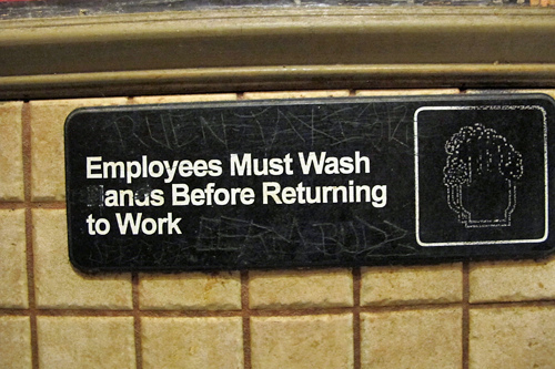 employees must wash their...