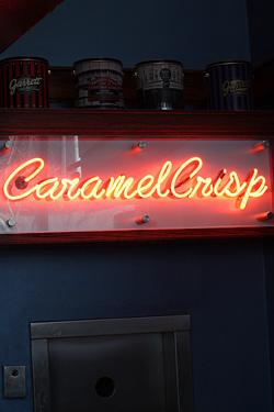 caramel crisp sign