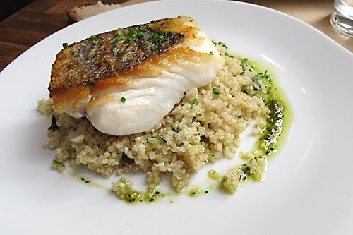 merlu with quinoa
