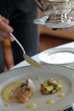 saucing fish