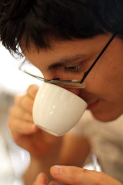 sampling coffee