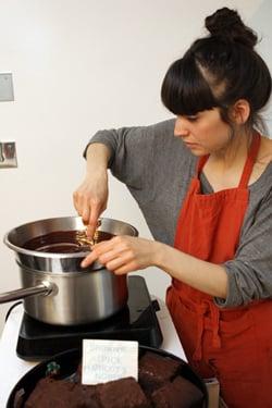 Alison making brownies