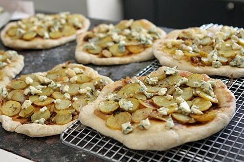 Potato and Blue Cheese Pizza - David Lebovitz