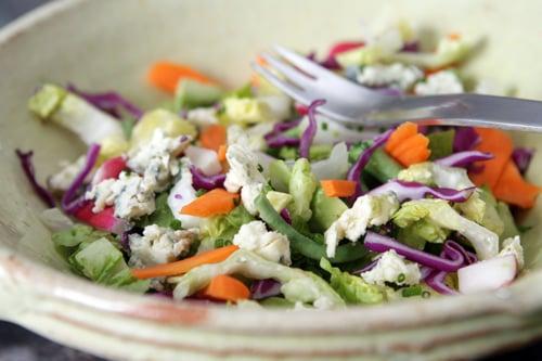Chopped Vegetable Salad with Lemon-Garlic Dressing - David Lebovitz