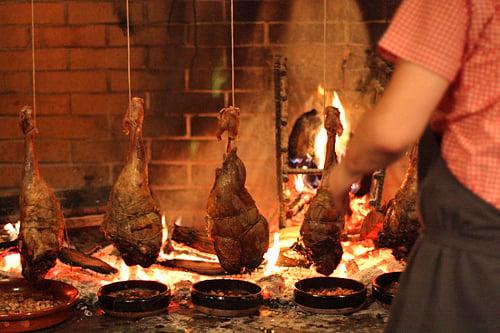 fireplace at Camino