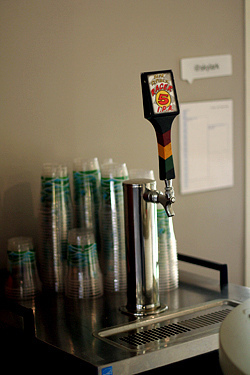 Twitter beer on tap