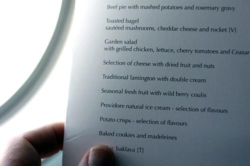 Lamington menu