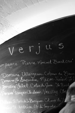 Verjus blackboard