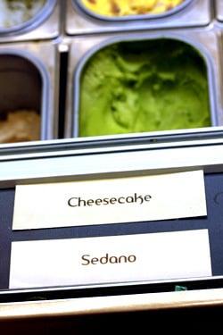 cheesecake & celery gelato