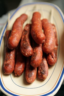 Corn dogs - grilled merguez