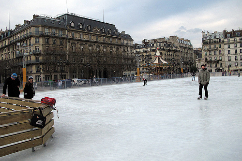 skating rink in Paris