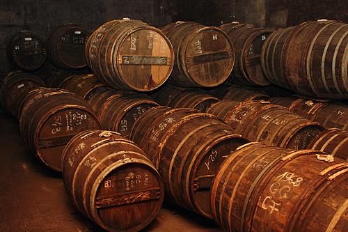 Cognac barrel aging