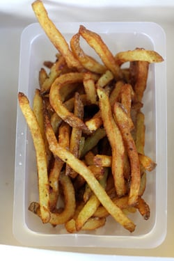 French fries at Le camion qui fume