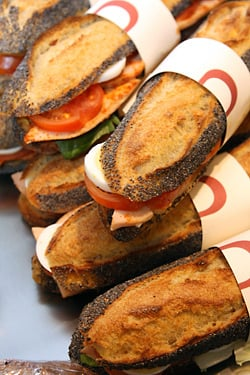 Sandwiches at La Pâtisserie