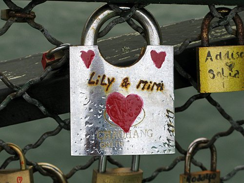 lily and mimi - Pont des Arts, Paris