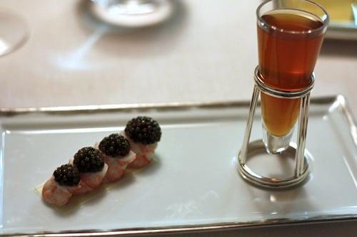 langoustinesi and caviar