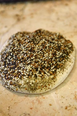 seeded flatbread