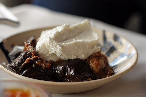 eggplant with whipped cheese
