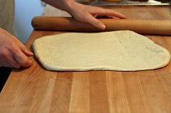 pizza dough rolling