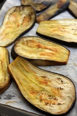 baked eggplant for eggplant jam