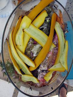 fish and zucchini