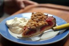 plum tart yeasted